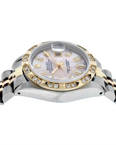Rolex PreOwned Automatic (Self Winding) date Watch with 0.75ctw of Precious Stones - diamond and mother of pearl