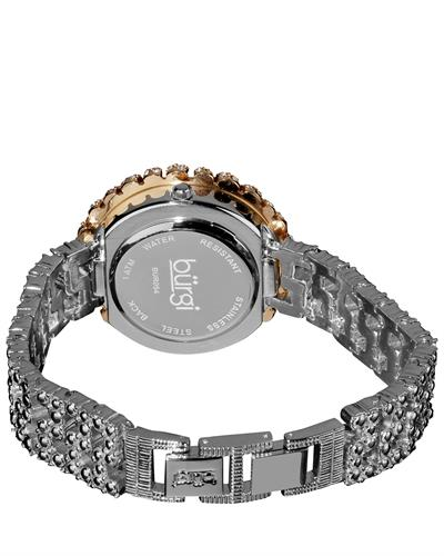 burgi BUR054 Brand New Quartz date Watch with 0ctw crystal