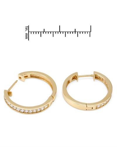Brand New Earring with 0.62ctw diamond 14K Yellow gold