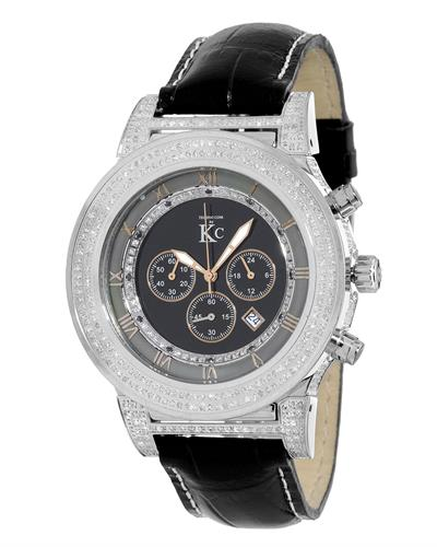 Techno Com by KC WA009440 Brand New Japan Quartz multifunction Watch with 2.25ctw of Precious Stones - crystal and diamond