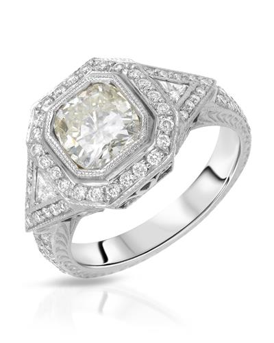 Julius Rappoport MITALI Brand New Ring with 2.22ctw of Precious Stones - diamond and diamond 18K White gold