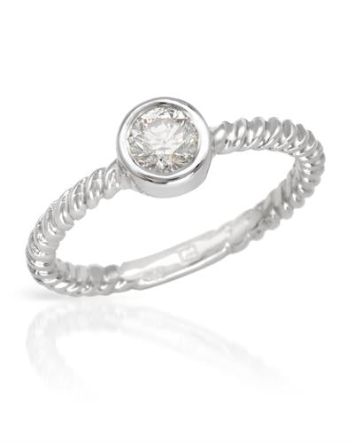 Brand New Ring with 0.38ctw diamond 14K White gold