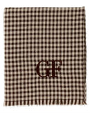 Gianfranco Ferre DU3C3308/2 Brand New Scarf  Brown Linen Flax and  Brown Silk
