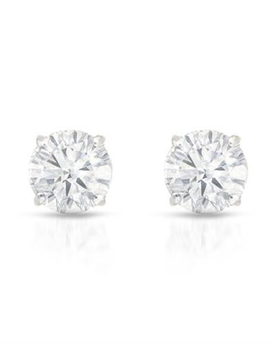 Brand New Earring with 0.13ctw diamond 14K White gold