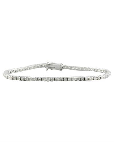 3.55 Carat Diamond 18K White Gold Bracelet