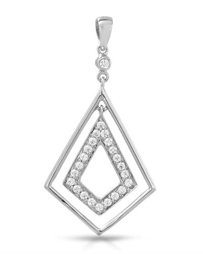 Brand New Pendant with 0ctw cubic zirconia 925 Silver sterling silver