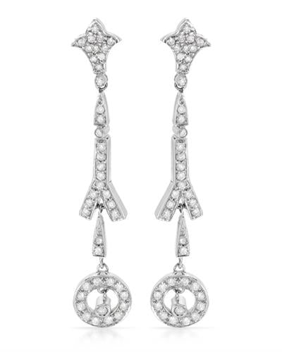 Brand New Earring with 1.3ctw diamond 14K White gold