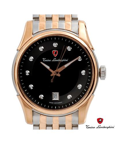 Tonino Lamborghini en035d.501 Brand New Swiss Movement date Watch with 0.05ctw diamond