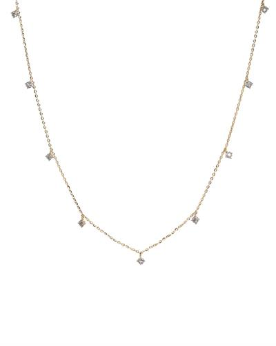 Brand New Necklace with 0.17ctw diamond 14K Yellow gold