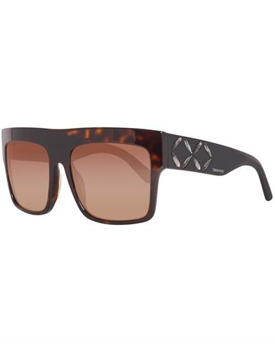 SWAROVSKI SK0128 5652F Brand New Sunglasses  Brown plastic