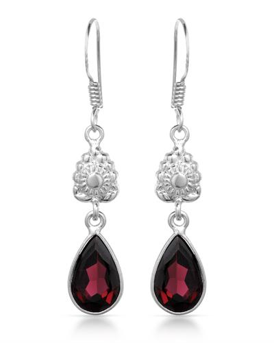 Brand New Earring with 6.15ctw garnet 925 Silver sterling silver