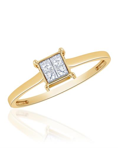 Brand New Ring with 0.25ctw diamond 14K Yellow gold