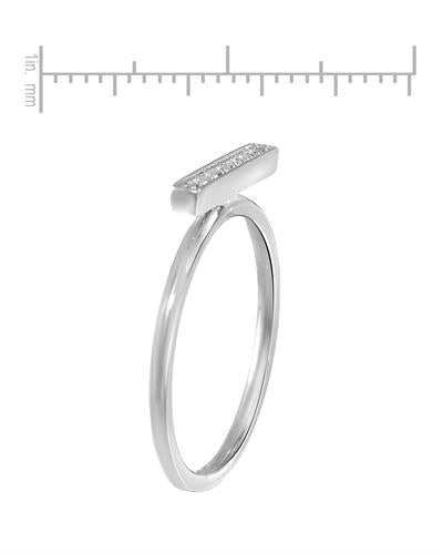 Lundstrom Brand New Ring with 0.04ctw diamond 10K White gold
