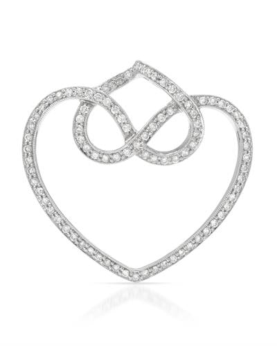Brand New Pendant with 0.81ctw diamond 18K White gold
