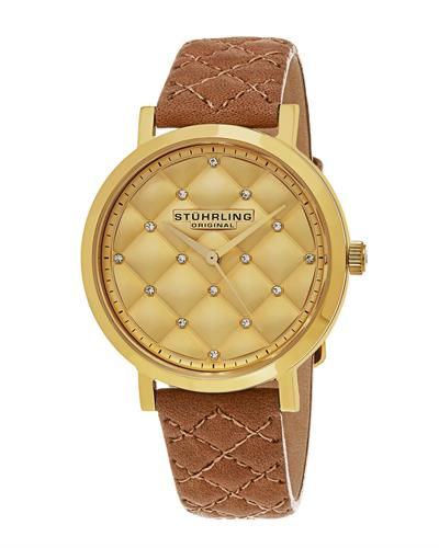 STUHRLING ORIGINAL 462.02 Vogue Brand New Quartz Watch with 0ctw crystal