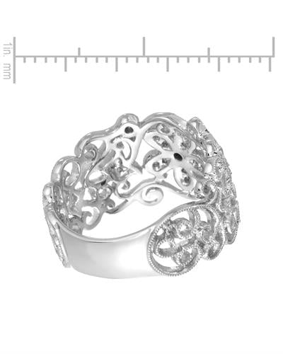 Brand New Ring with 0.13ctw diamond 14K White gold