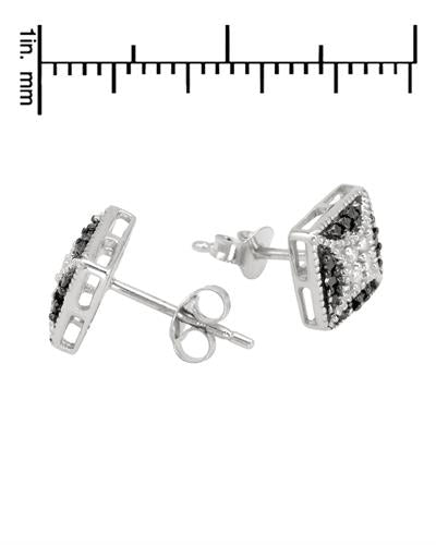 Brand New Earring with 0.2ctw of Precious Stones - diamond and diamond 925 Silver sterling silver