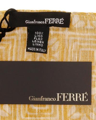 Gianfranco Ferre D8F5958/5 Brand New Scarf  Orange Yellow Linen Flax