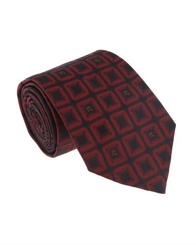 Roberto Cavalli ESZ033 02000 Brand New Tie  Red Silk
