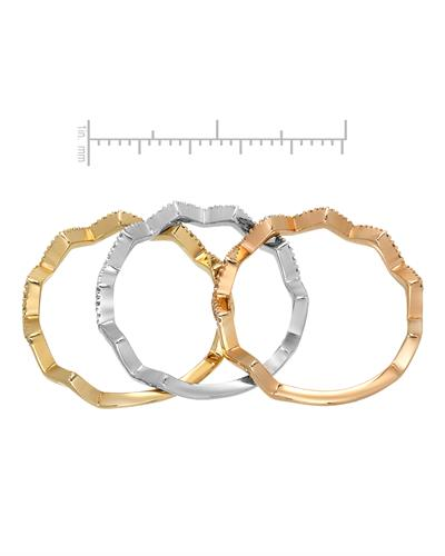 Whitehall Brand New Ring with 0.39ctw diamond 14K Three tone gold