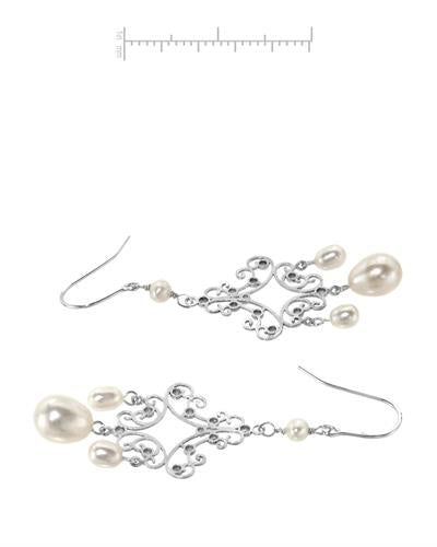 PEARL LUSTRE Brand New Earring with 0ctw pearl 925 Silver sterling silver