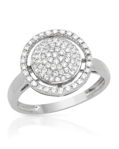 Brand New Ring with 0.45ctw diamond 18K White gold