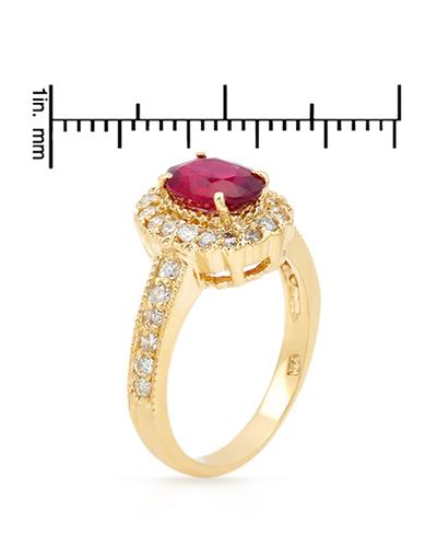 Brand New Ring with 1.95ctw of Precious Stones - diamond and ruby 14K Yellow gold