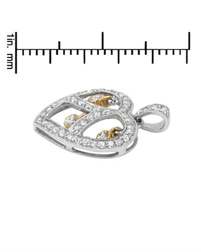 Brand New Pendant with 0.5ctw diamond 14K Two tone gold