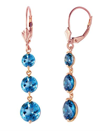 Magnolia Brand New Earring with 7.2ctw topaz 14K Rose gold