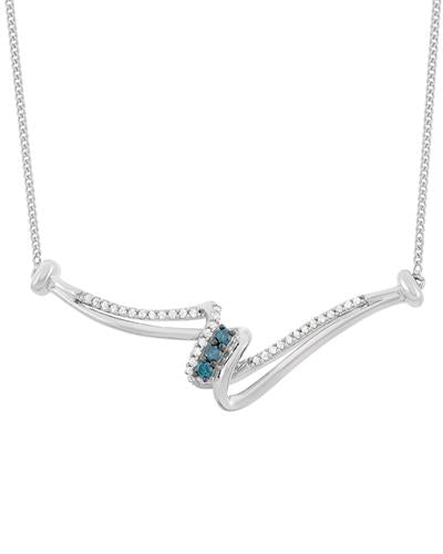Brand New Necklace with 0.25ctw of Precious Stones - diamond and diamond 925 Silver sterling silver
