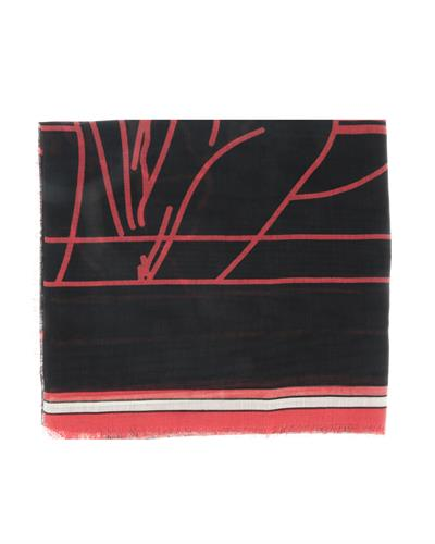 Givenchy GW1414 SD513 2 Brand New Scarf  Black Cashmere and  Black Silk