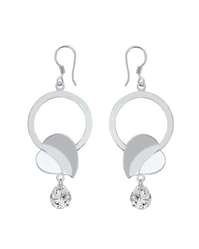 Brand New Earring with 6ctw cubic zirconia 925 Silver sterling silver