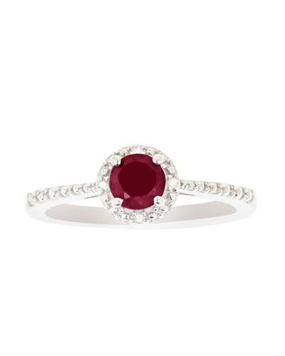 Brand New Ring with 0.71ctw of Precious Stones - diamond and ruby 925 Silver sterling silver