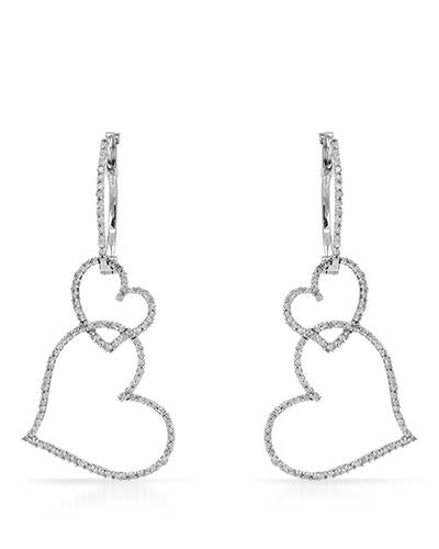 Lundstrom Brand New Earring with 0.65ctw diamond 10K White gold