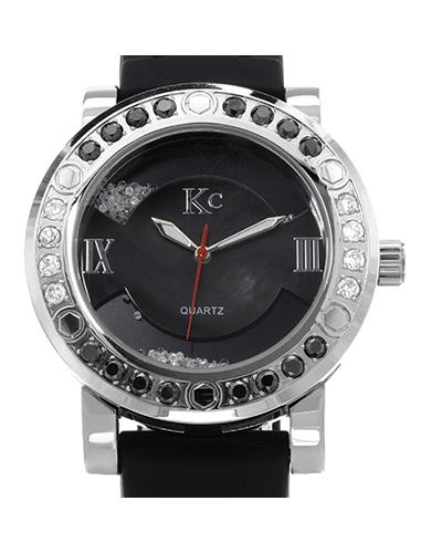 KC WA006337 Brand New Quartz Watch with 3.75ctw of Precious Stones - crystal, diamond, diamond, and mother of pearl