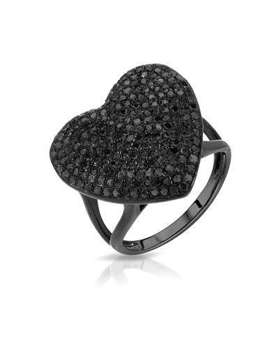 Lundstrom Brand New Ring with 1.35ctw diamond 10K Black gold