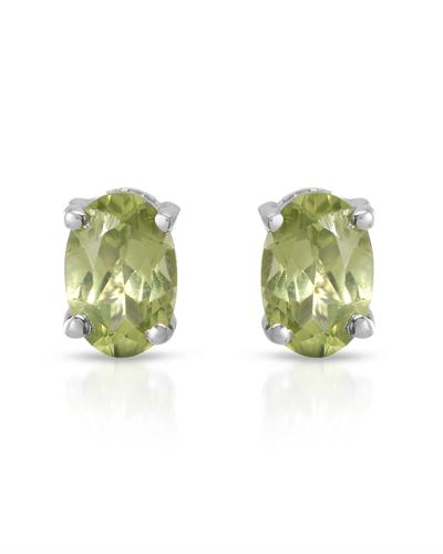 Brand New Earring with 0.96ctw peridot 925 Silver sterling silver