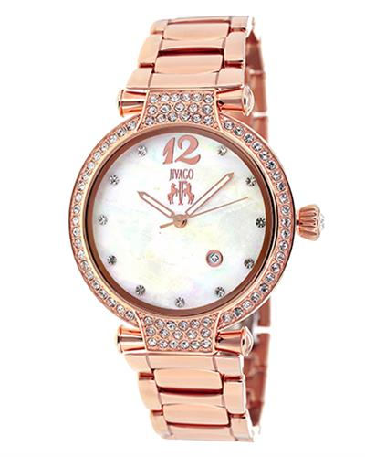 Jivago JV2218 Bijoux Brand New Swiss Quartz date Watch with 0ctw crystal