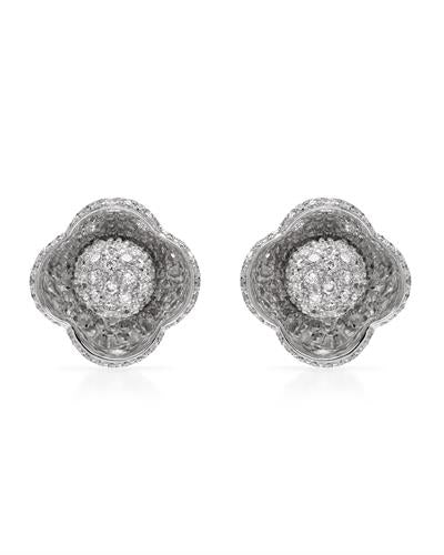 Brand New Earring with 0.99ctw diamond 18K White gold