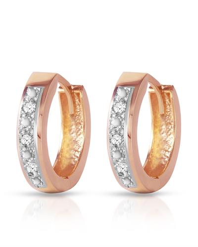 Magnolia Brand New Earring with 0.04ctw diamond 14K Rose gold