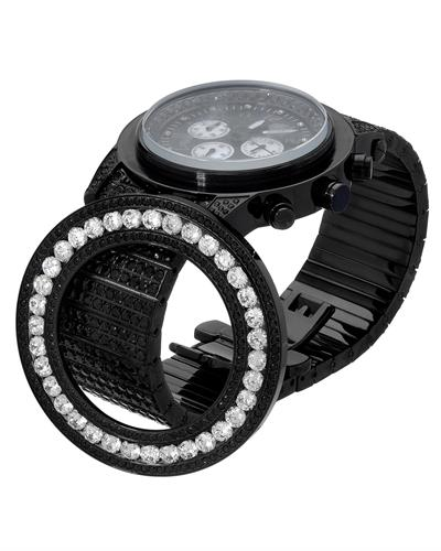 KC WA005736 Brand New Quartz day date Watch with 0ctw of Precious Stones - cubic zirconia and mother of pearl