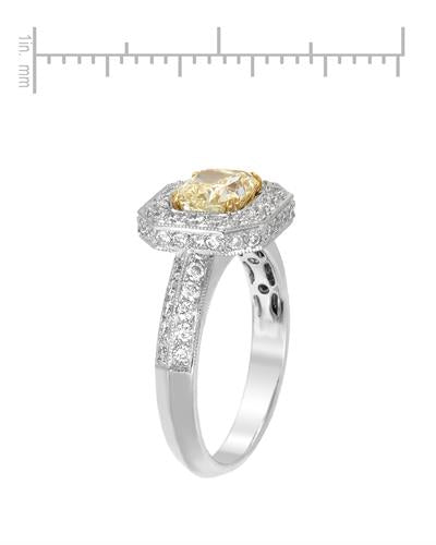 Brand New Ring with 1.95ctw of Precious Stones - diamond and diamond 18K Two tone gold