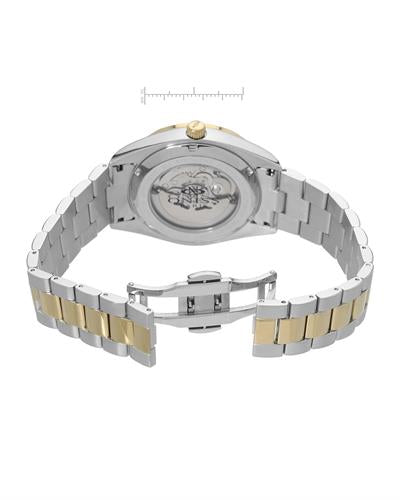 Oniss ON3883-2TWT PARIS Brand New Automatic date Watch with 0ctw of Precious Stones - crystal and mother of pearl