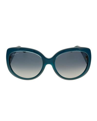 Salvatore Ferragamo SF721S 416 Brand New Sunglasses  Blue plastic