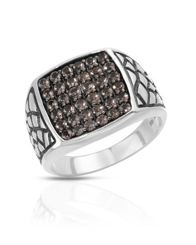 Currency Brand New Ring with 0ctw cubic zirconia 925 Two tone sterling silver