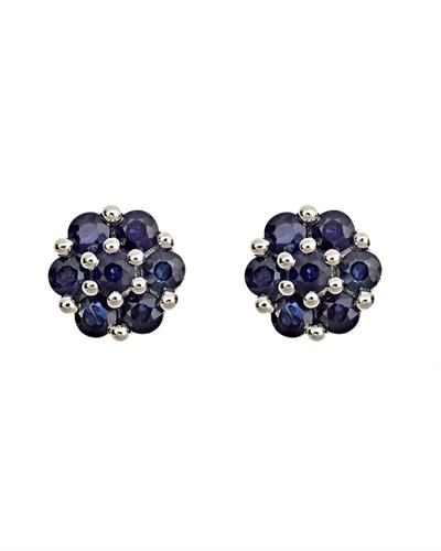 Brand New Earring with 1.26ctw sapphire 925 Silver sterling silver