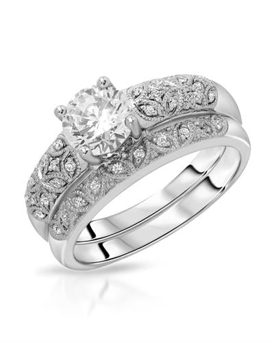 Brand New Ring with 2.2ctw of Precious Stones - cubic zirconia and cubic zirconia 925 Silver sterling silver