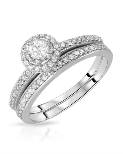 Brand New Ring with 0.48ctw diamond 10K White gold