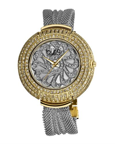 burgi BUR051TTG Brand New Quartz Watch with 0ctw crystal