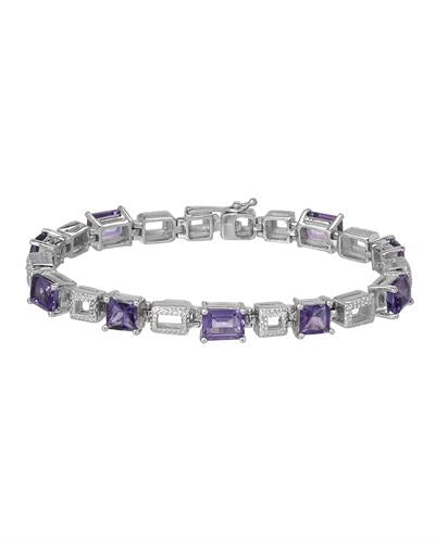 Brand New Bracelet with 9.6ctw amethyst 925 Silver sterling silver